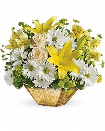 Garden Reflections Centerpiece by Teleflora Bouquet