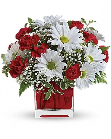 Red And White Delight by Teleflora - by Lary's Flo Bouquet