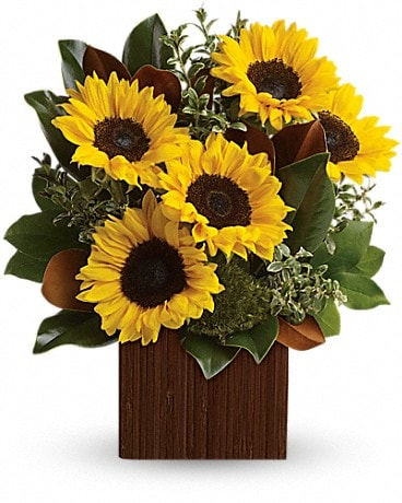 You're Golden Bouquet Flower Arrangement