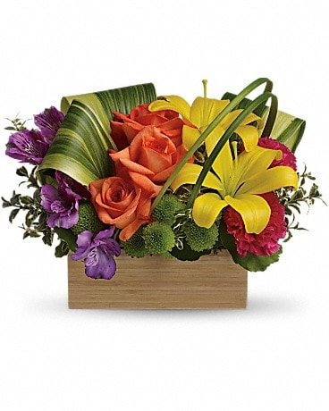 Teleflora's Shades Of Brilliance Bouquet TEV32-3A Flower Arrangement