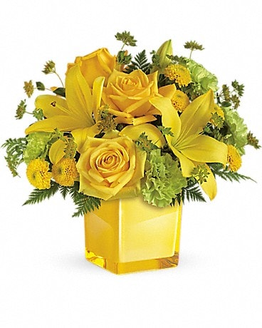 Teleflora's Sunny Mood Bouquet (TEV43-2A) Bouquet
