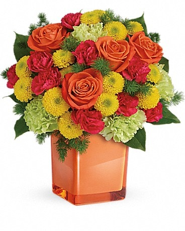 House of Flora's Citrus Smiles Bouquet Bouquet