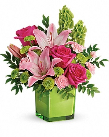 Teleflora's In Love With Lime Bouquet (TEV44-1A) Bouquet