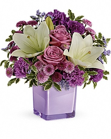 Teleflora's Pleasing Purple Bouquet TEV45-1A Bouquet