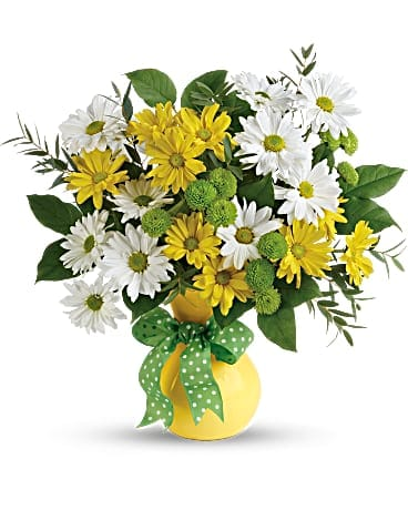 Teleflora's Daisies And Dots Bouquet Bouquet