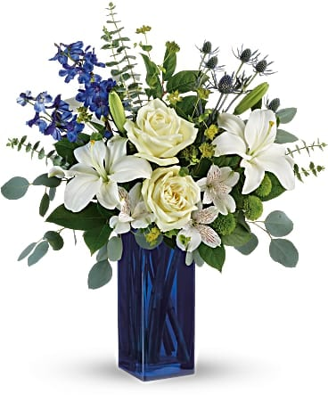 William Paul's Calming Cobalt Bouquet Bouquet