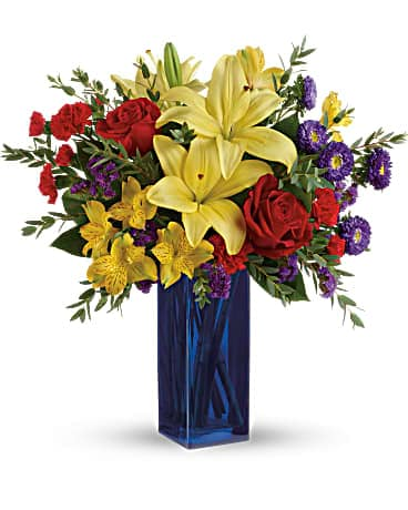 Summer Flower Delivery - Teleflora's Flying Colors Bouquet