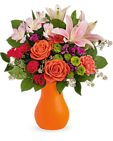 Teleflora's Happy Go Citrus Bouquet Bouquet