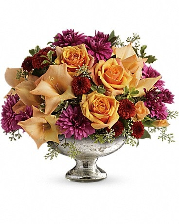 Teleflora's Elegant Traditions Centerpiece Flower Arrangement