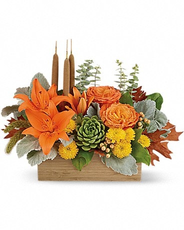Fall Bamboo Garden Flower Arrangement