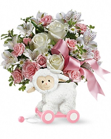 Sweet Little Lamb - Baby Pink Bouquet