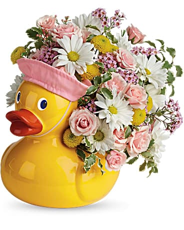 Telelfora's Sweet Little Ducky Bouquet Bouquet