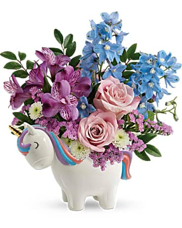 Teleflora's Enchanting Pastels Unicorn Bouquet