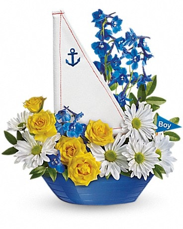 |||||||Ahoy It's A Boy Bouquet by Teleflora||||||| Flower Arrangement