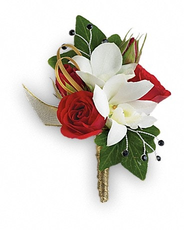 Star Studded Boutonniere Boutonniere