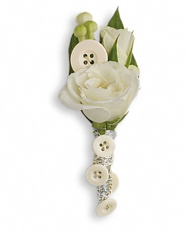 All Buttoned Up Boutonniere  Boutonniere