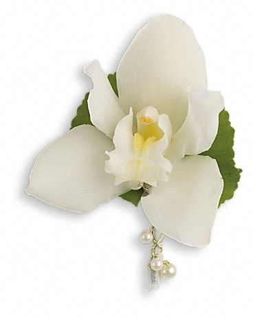 Shimmering Pearls Boutonniere  Boutonniere