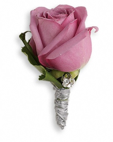 Roses And Ribbons Boutonniere  Boutonniere