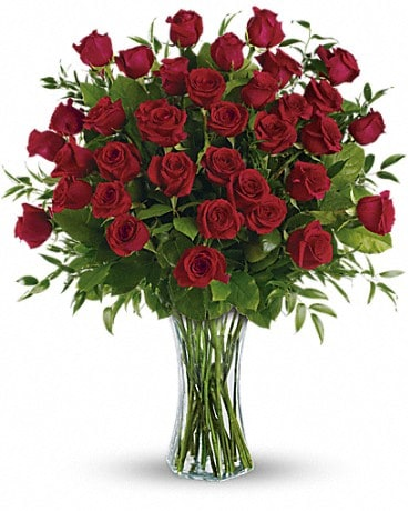 Breathtaking Beauty - 3 Dozen Long Stemmed Roses Bouquet