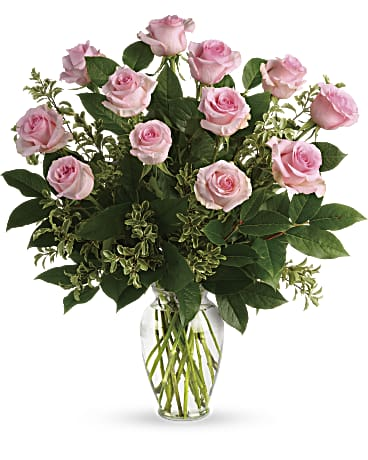 Say Something Sweet Pink Roses Bouquet Bouquet