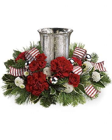 Teleflora's Holly Jolly Centerpiece  Specialty Arrangement
