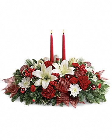 Yuletide Magic Centerpiece Specialty Arrangement