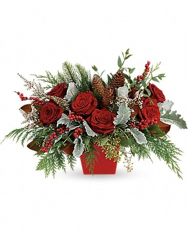 Winter Blooms Centerpiece Bouquet