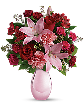 Teleflora's Roses and Pearls Bouquet - Bouquet