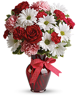 Hugs and Kisses Bouquet with Red Roses - Bouquet