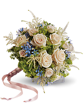 Lovely as a Rose Hand Tied Bouquet - Bouquet