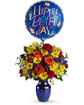 Fly Away Birthday Bouquet - Bouquet