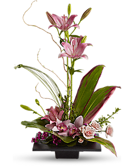 Imagination Blooms with Cymbidium Orchids - Flower Arrangement