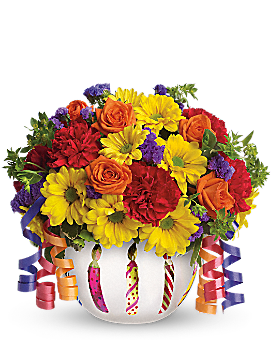 Teleflora's Brilliant Birthday Blooms - Bouquet