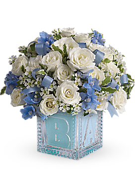 Baby's First Block by Teleflora - Blue - Bouquet