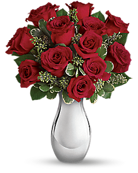 Teleflora's True Romance Bouquet with Red Roses - Bouquet