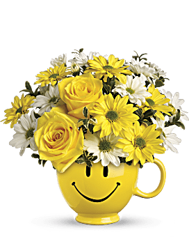 Teleflora's Be Happy Bouquet with Roses - Bouquet