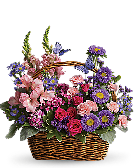 Country Basket Blooms - Basket Arrangement