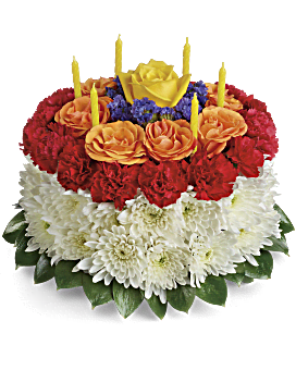 Your Wish Is Granted Birthday Cake Bouquet - Flower Arrangement