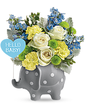 Teleflora's Hello Sweet Baby - Blue - Bouquet