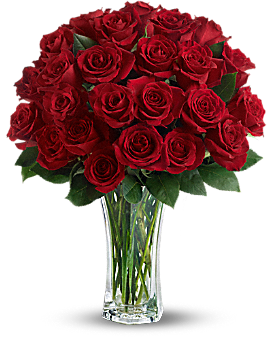 Love and Devotion - Long Stemmed Red Roses - Bouquet