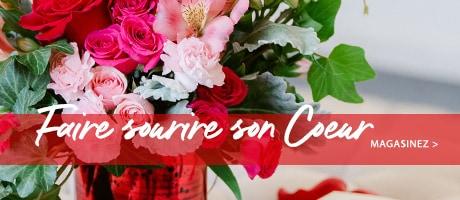 Fleurs du jour de Valentine de la livraison