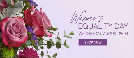 women equality day flowers