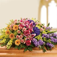 Sympathy flowers for service CASKET SPRAYS