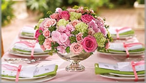 Colorful wedding flowers in norristown plaza flowers pink flowers range from pale asiatic lilies to vibrant hot pink gerberas and create a feeling of peace and harmony a wedding table centerpiece might mix mightylinksfo