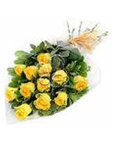 Dozen Yellow Roses Boxed
