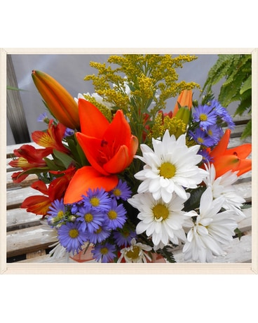 Florist Choice of Mixed Wrapped  Flowers