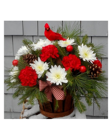 Country Cardinal Basket