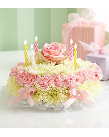 Excellent Birthday Flower Cake Pastel In Loganville Ga Loganville Flower Birthday Cards Printable Benkemecafe Filternl
