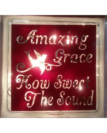 Lighted Cube - Amazing Grace