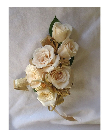 Quick View Champagne Rose Corsage